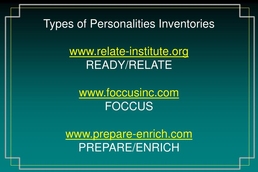 Types of Personalities Inventories