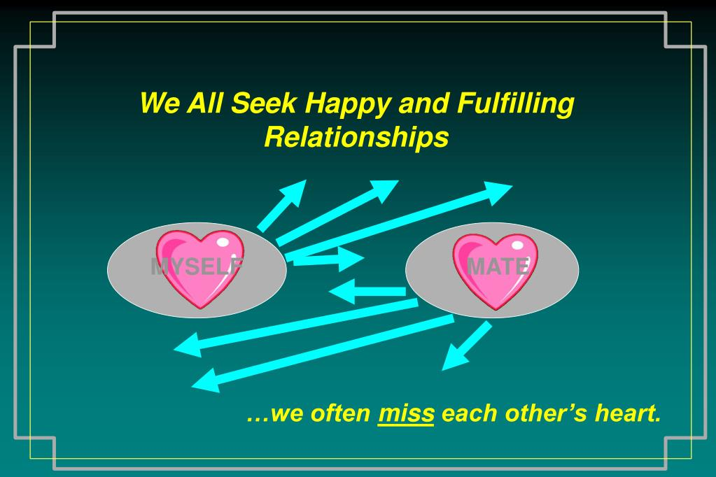 We All Seek Happy and Fulfilling Relationships