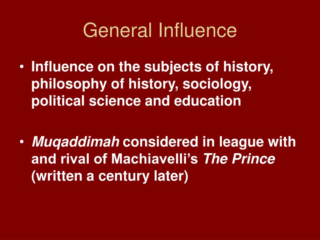General Influence