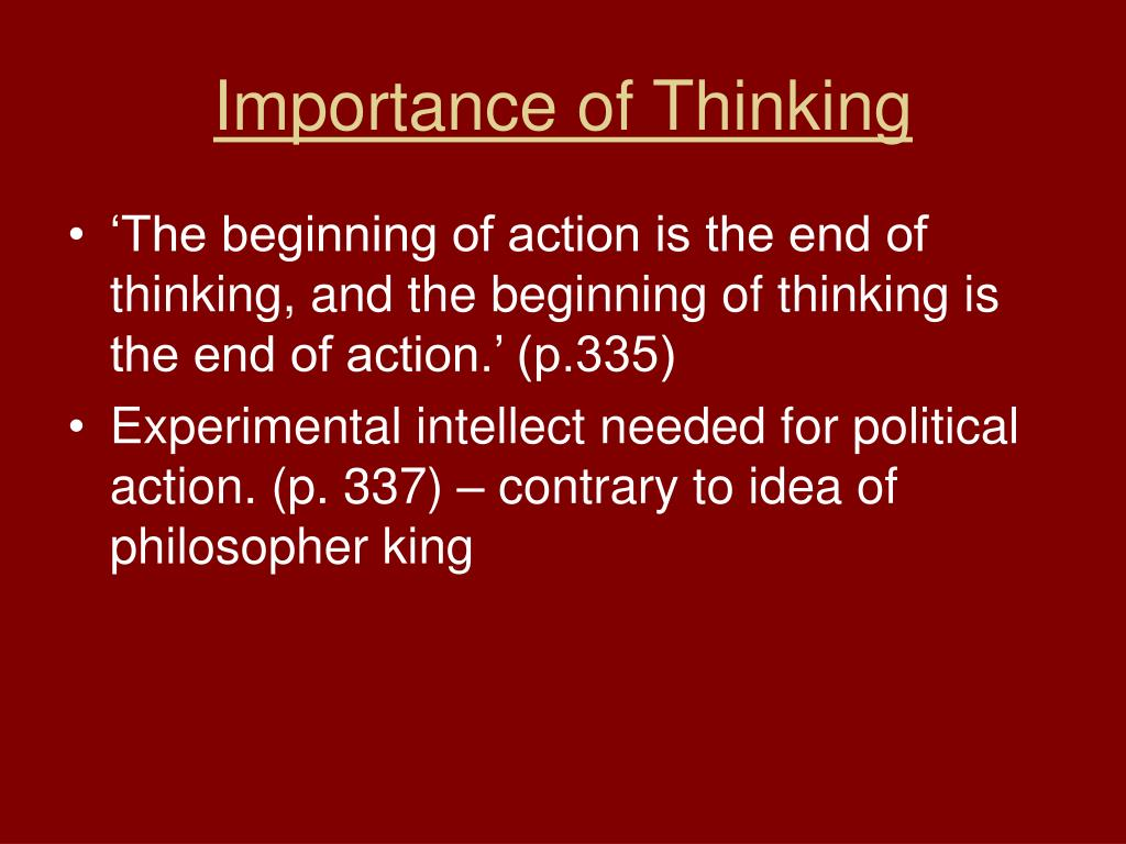 Importance of Thinking