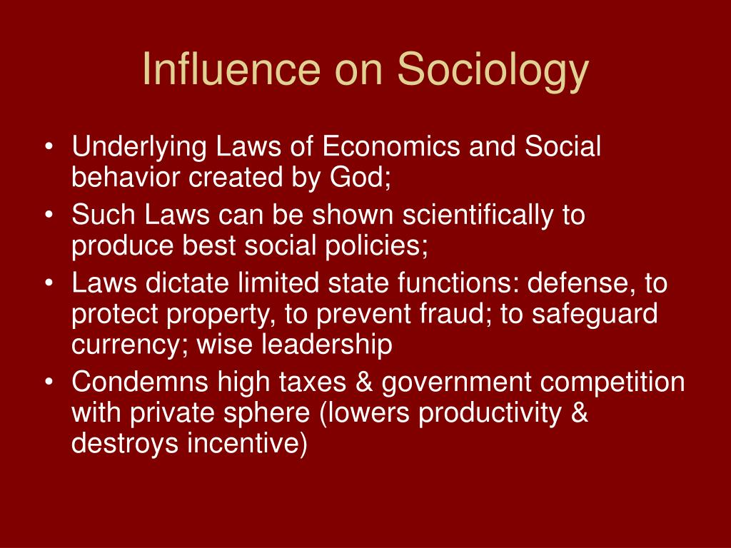 Influence on Sociology