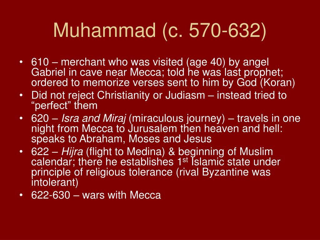 Muhammad (c. 570-632)
