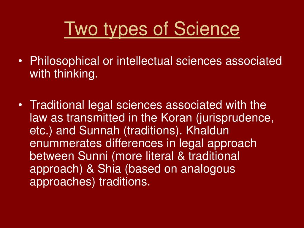Two types of Science