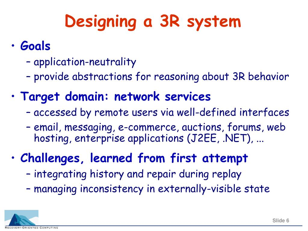 Designing a 3R system