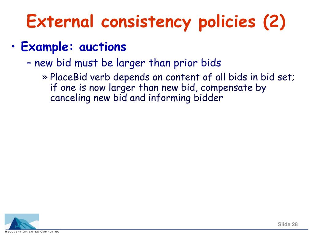 External consistency policies (2)
