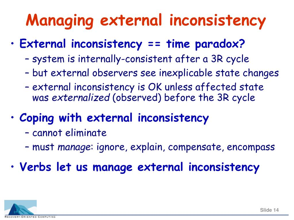 Managing external inconsistency
