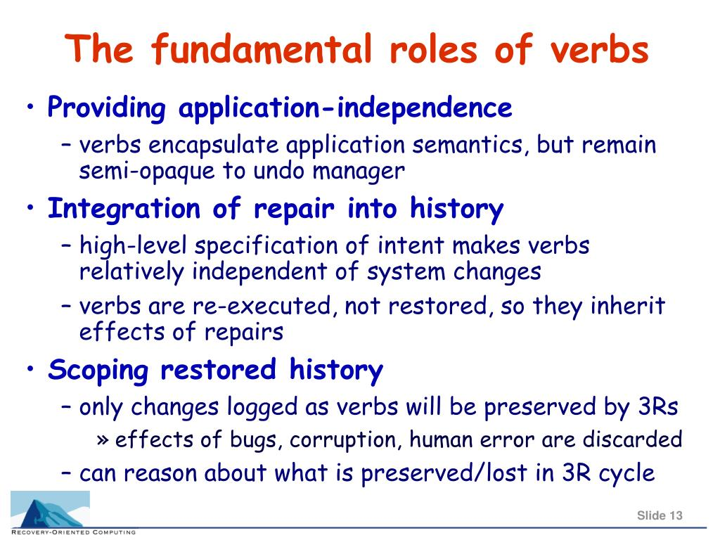 The fundamental roles of verbs