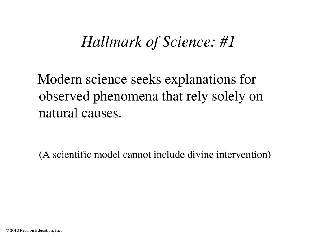 Hallmark of Science: #1