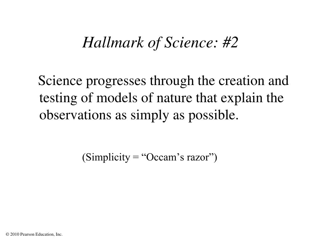 Hallmark of Science: #2