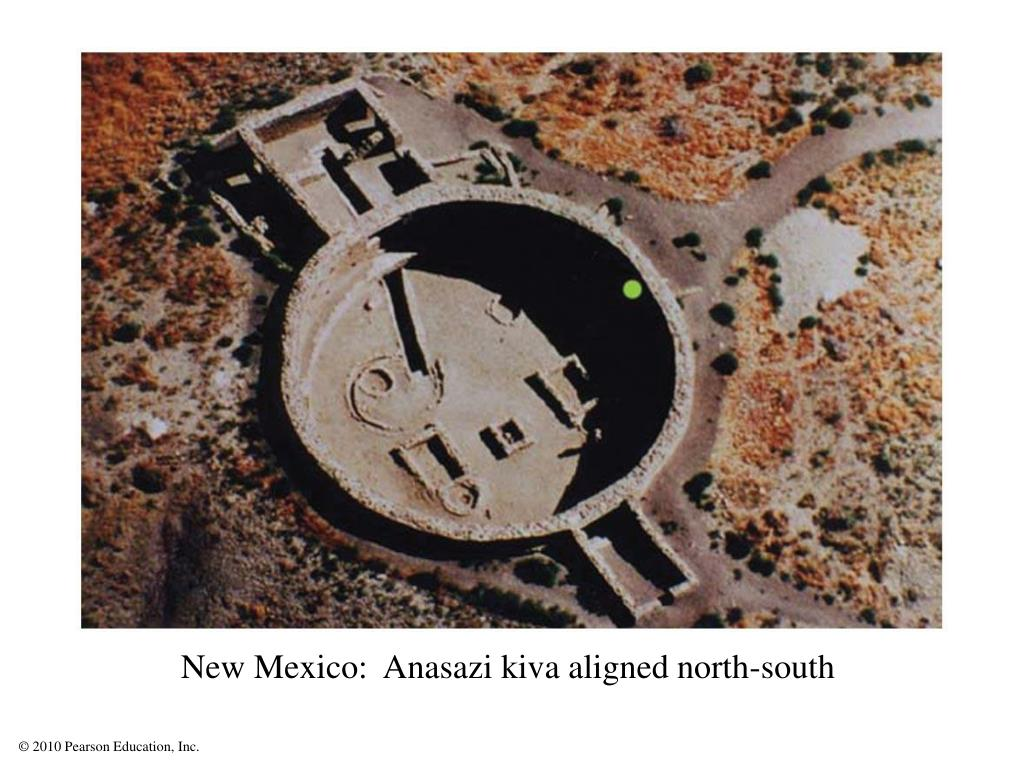 New Mexico:  Anasazi kiva aligned north-south
