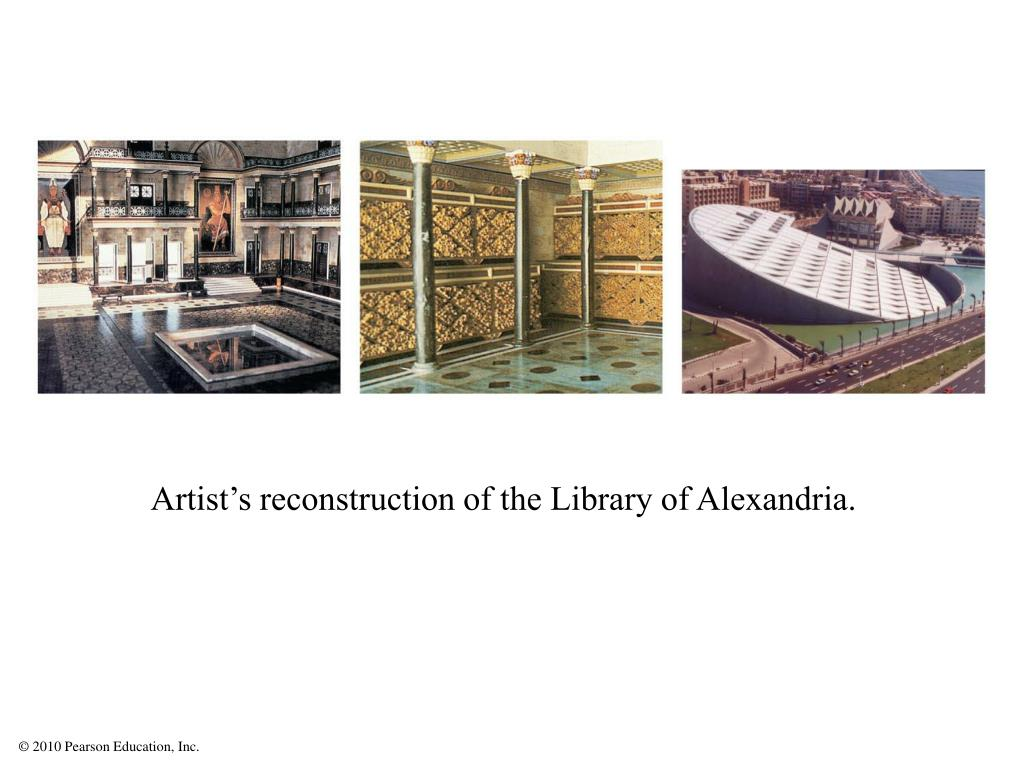 Artist's reconstruction of the Library of Alexandria.