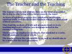 the teacher and the teaching