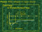 total energy for gravitationally bound mass e k u e gmm 2r o