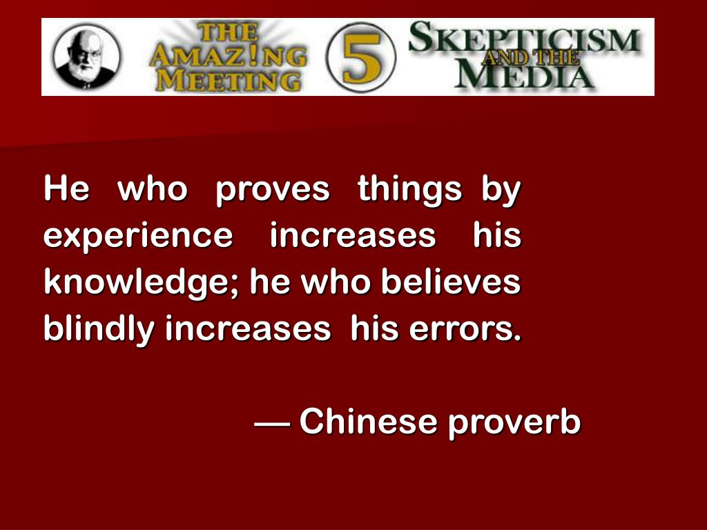 He   who   proves   things  by