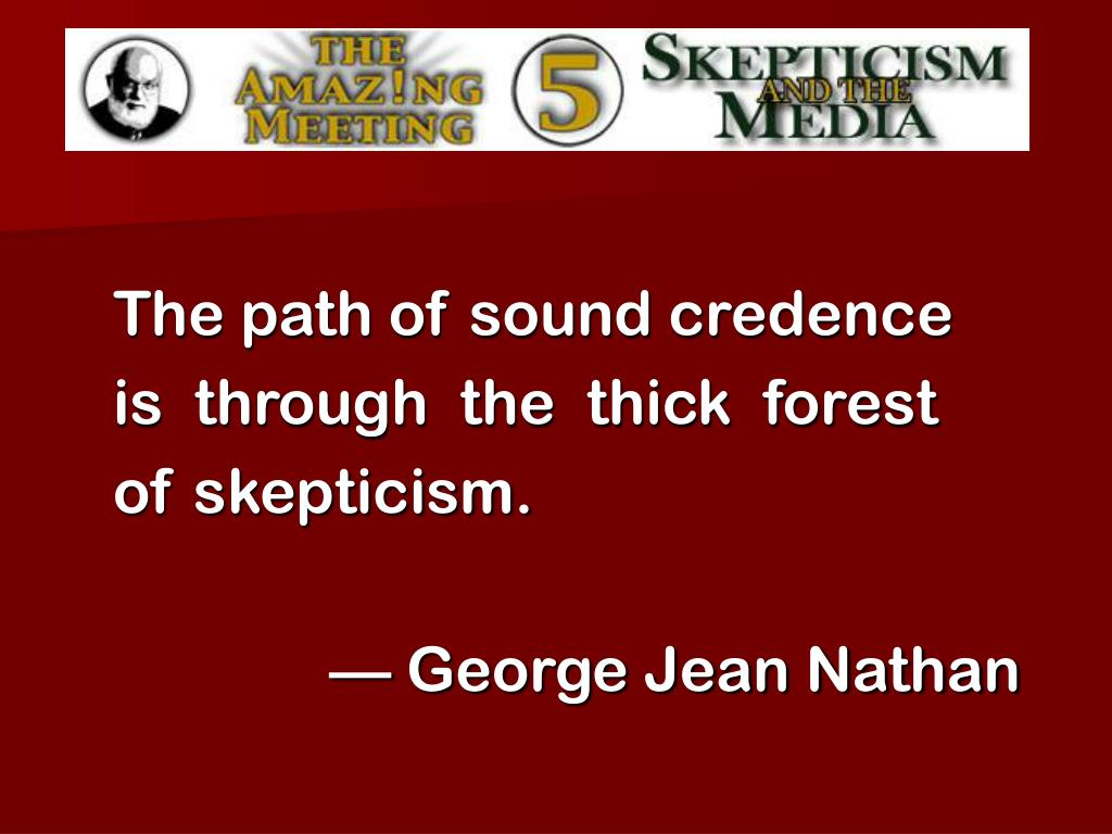 The path of sound credence