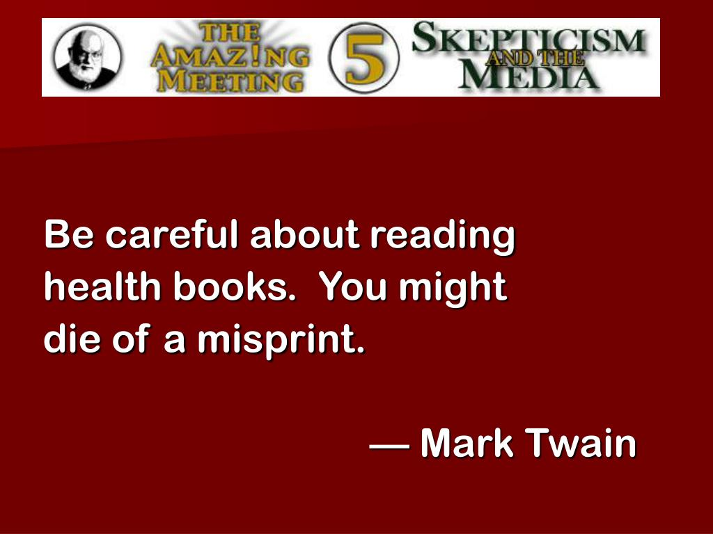 Be careful about reading