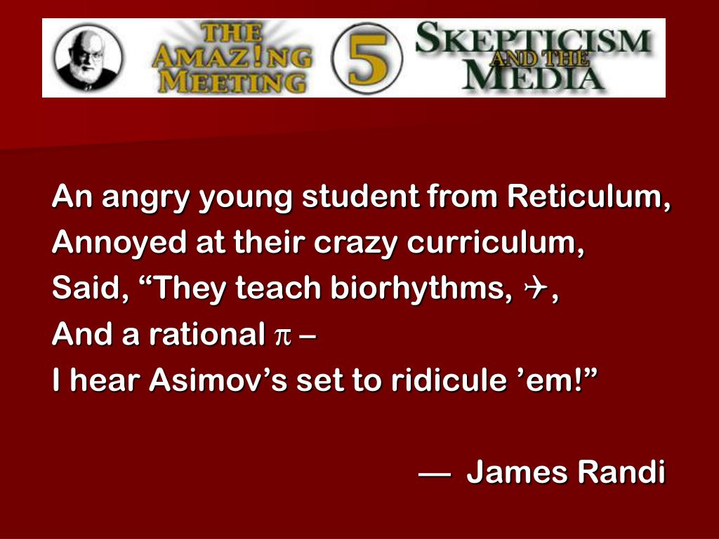 An angry young student from Reticulum,