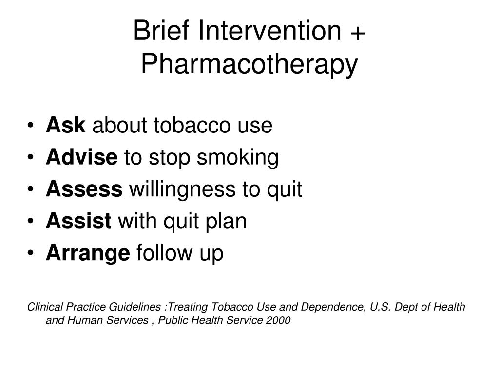 Brief Intervention + Pharmacotherapy