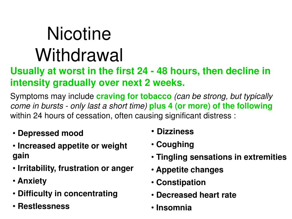 Nicotine Withdrawal