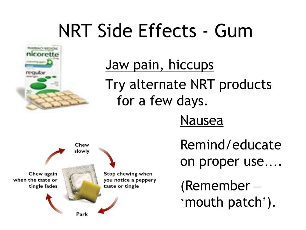 NRT Side Effects - Gum