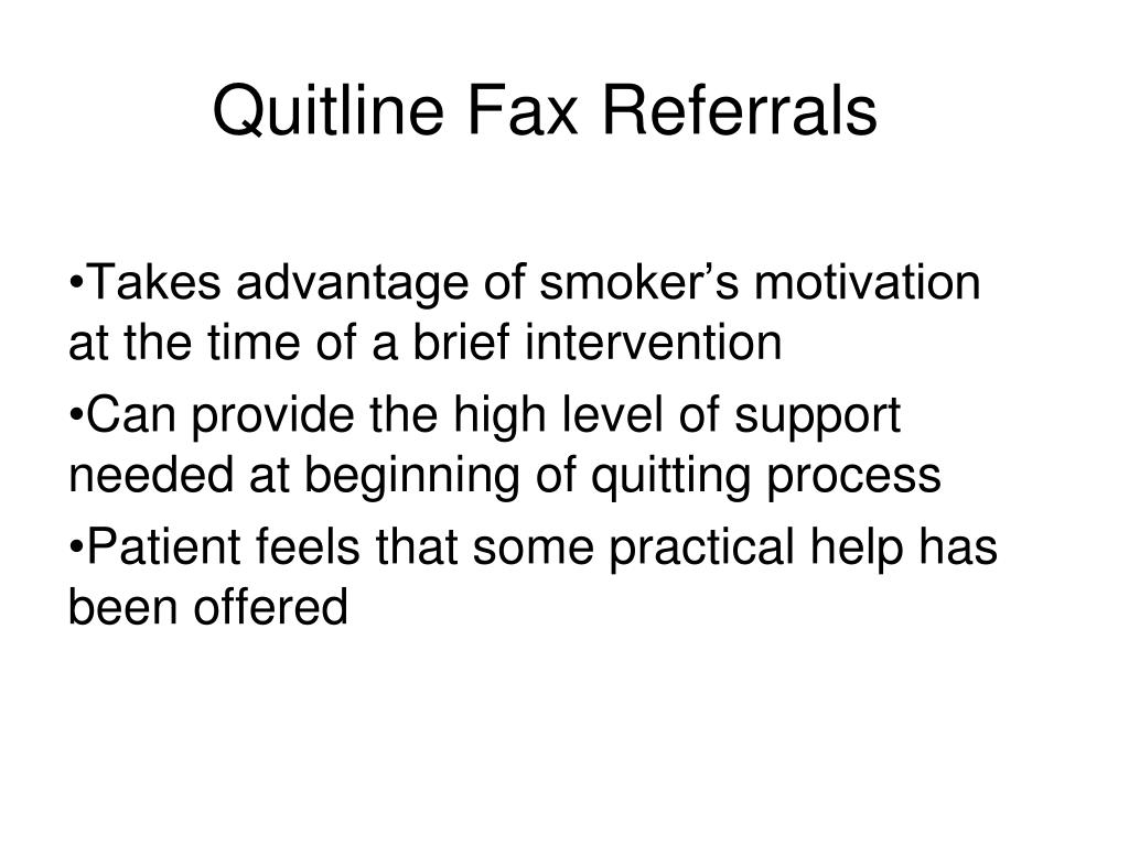 Quitline Fax Referrals