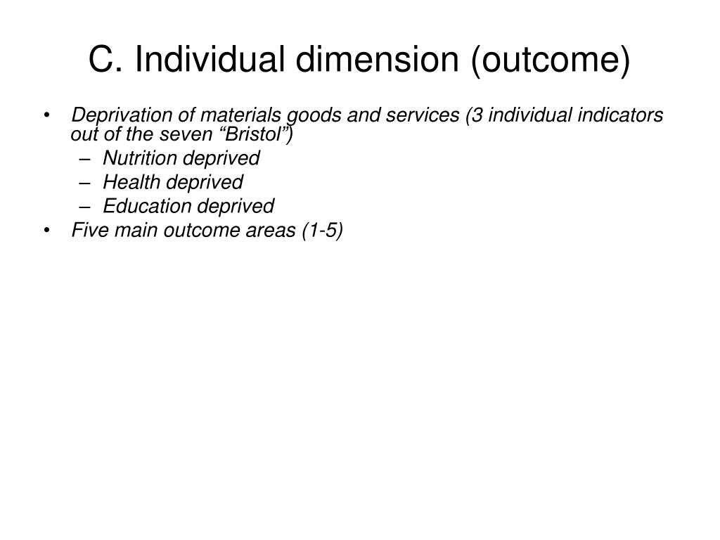 C. Individual dimension (outcome)