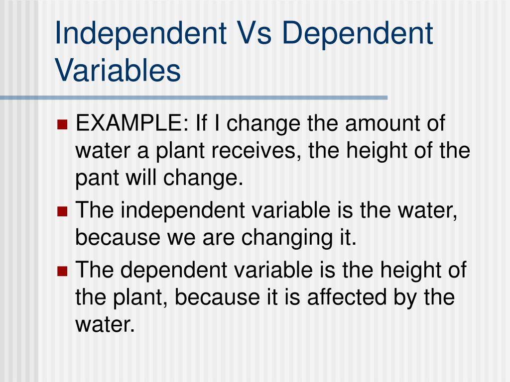 Ppt Independent And Dependent Variables Powerpoint