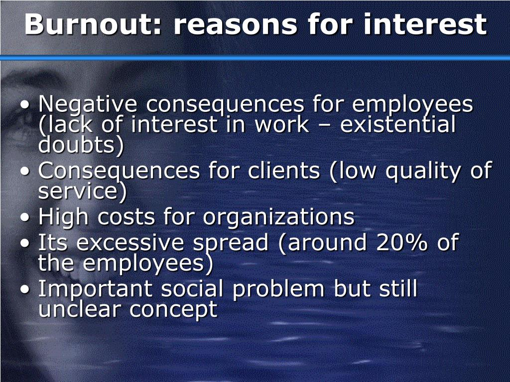 Burnout: reasons for interest