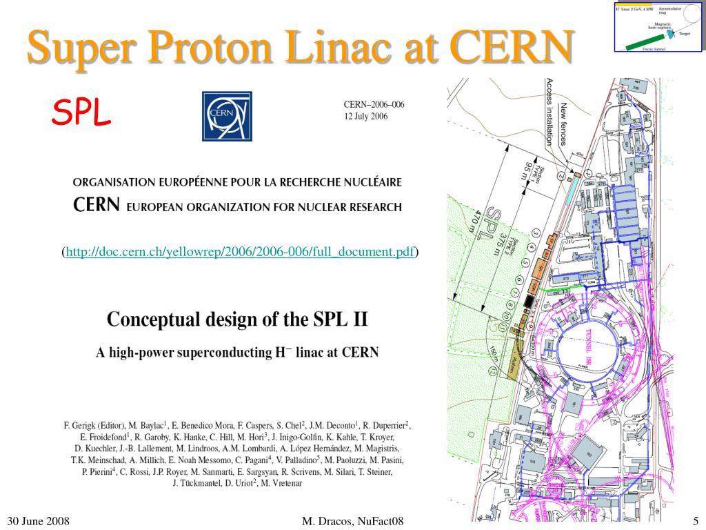 Super Proton Linac at CERN