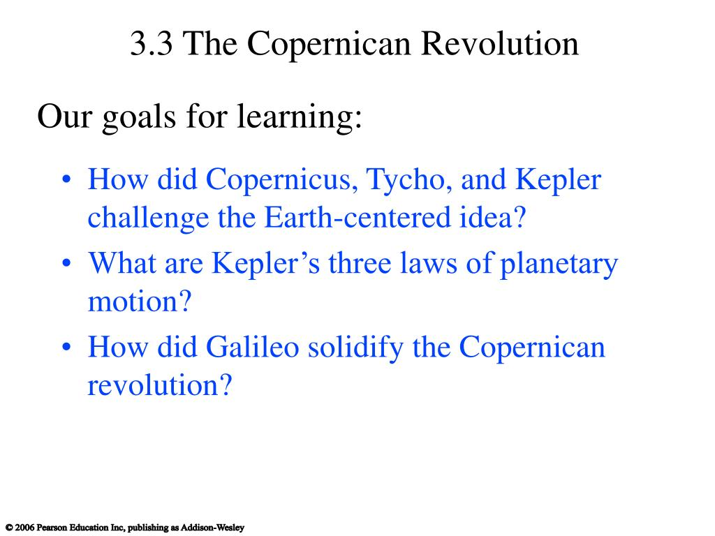 3.3 The Copernican Revolution