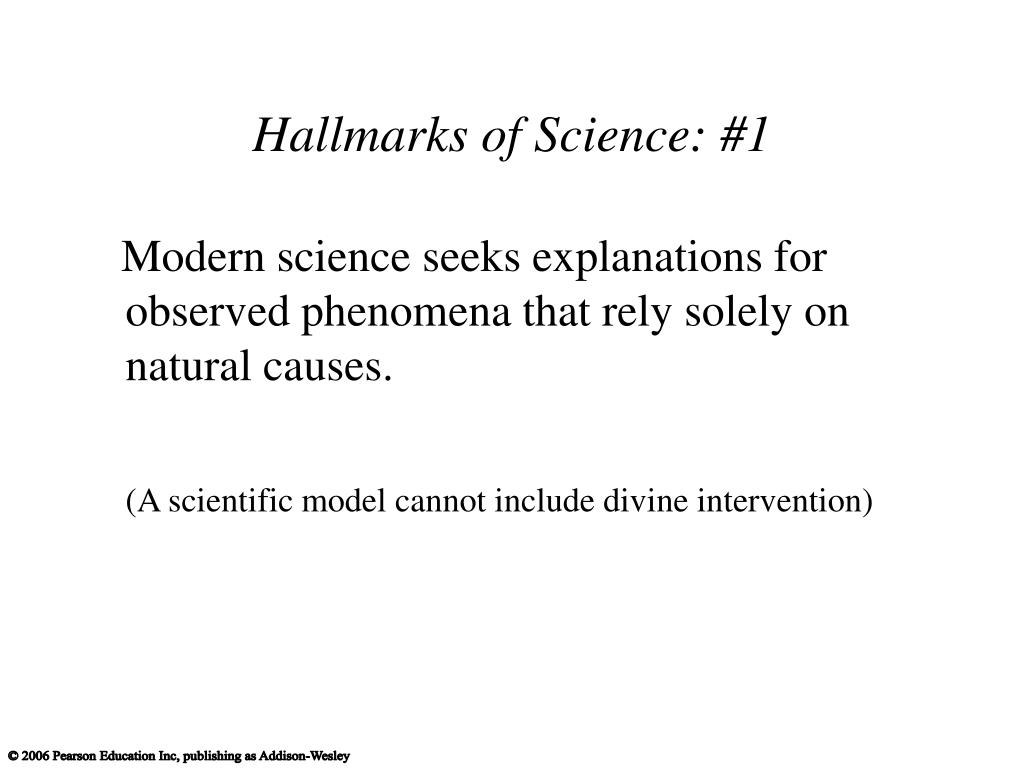Hallmarks of Science: #1