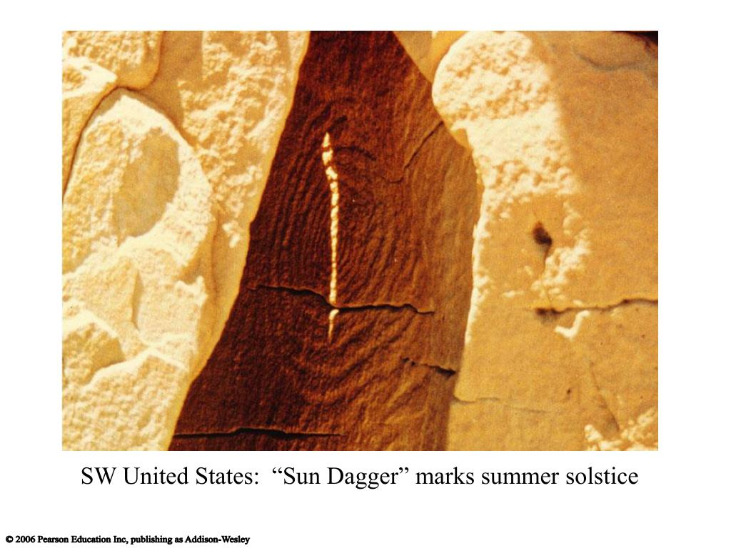 "SW United States:  ""Sun Dagger"" marks summer solstice"