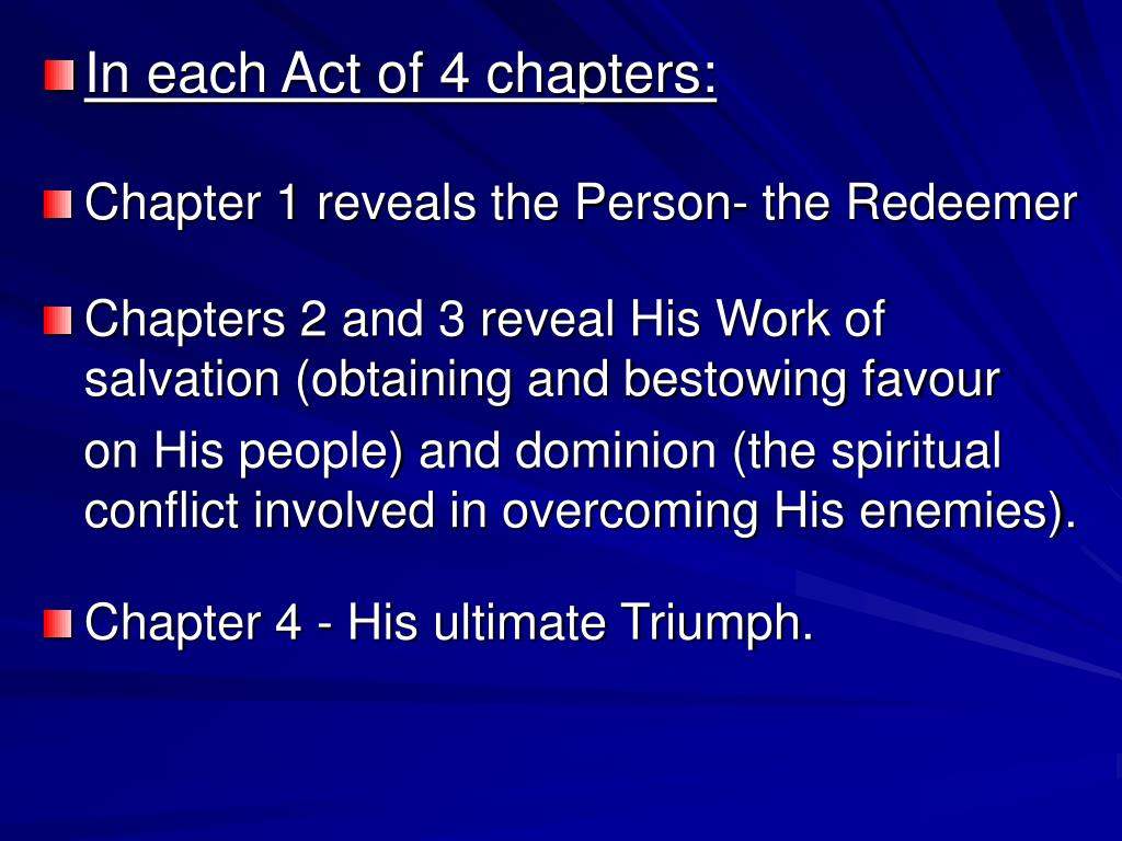 In each Act of 4 chapters: