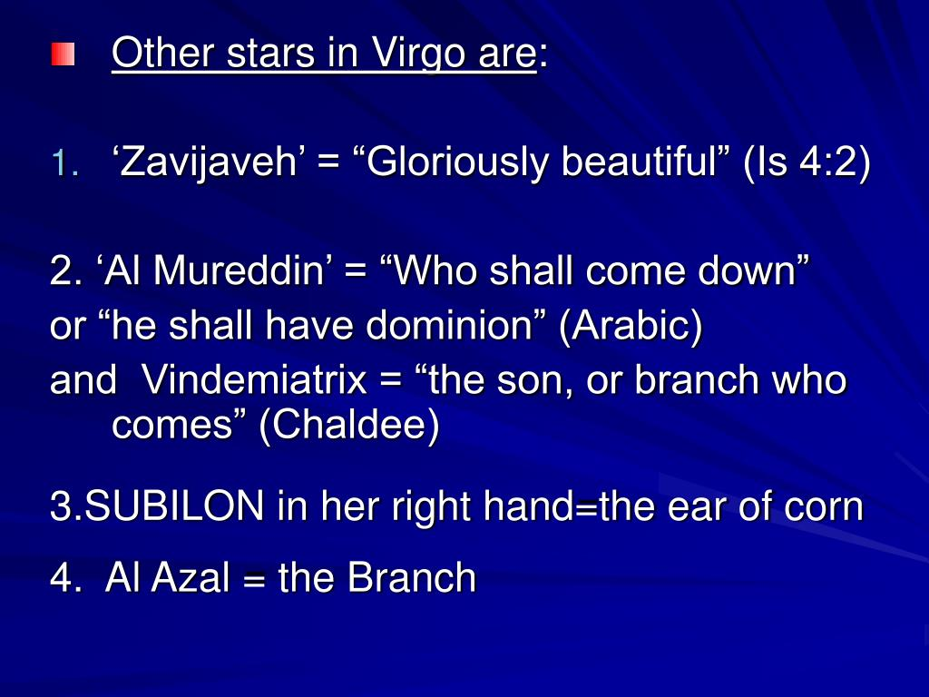 Other stars in Virgo are