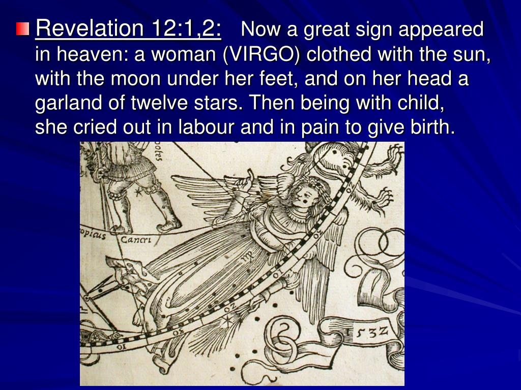 Revelation 12:1,2: