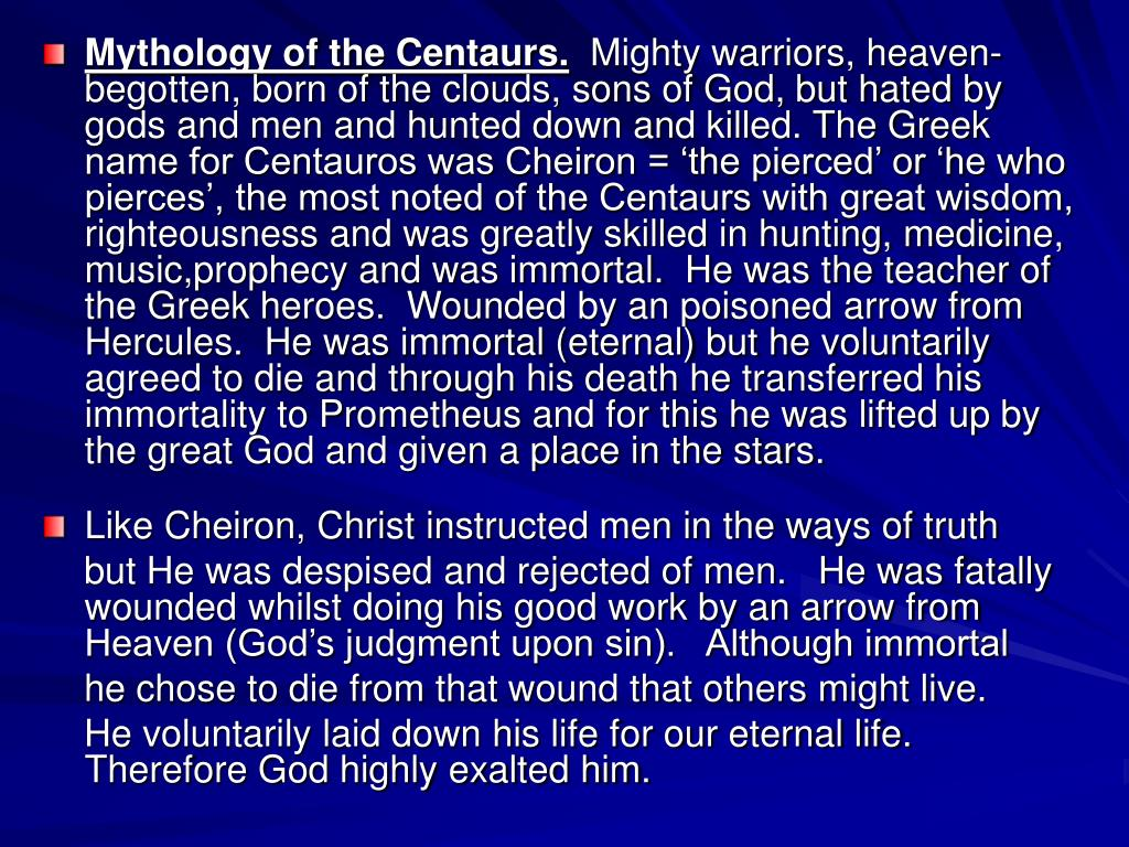Mythology of the Centaurs.