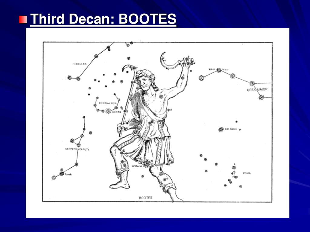 Third Decan: BOOTES