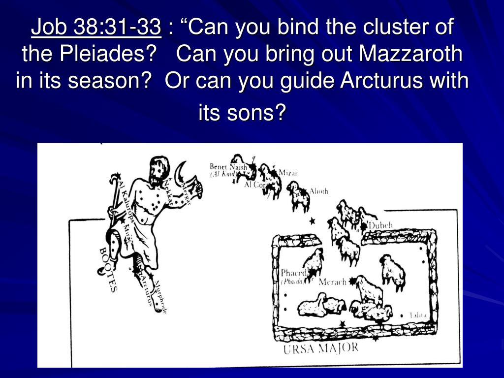 Job 38:31-33