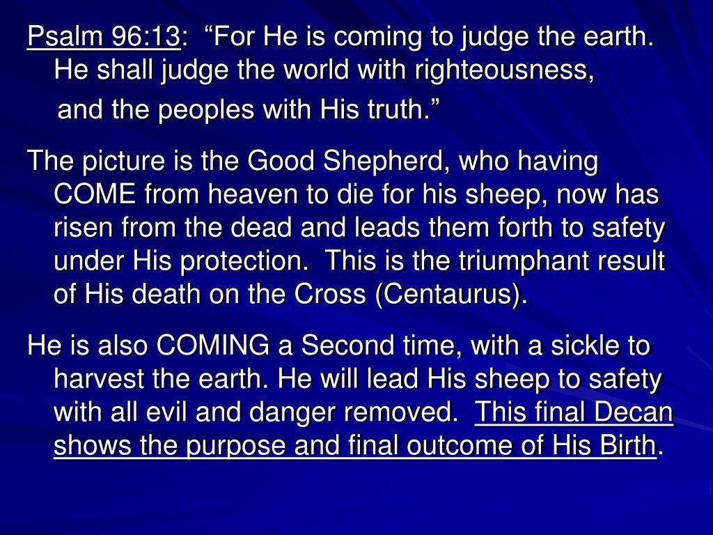 Psalm 96:13