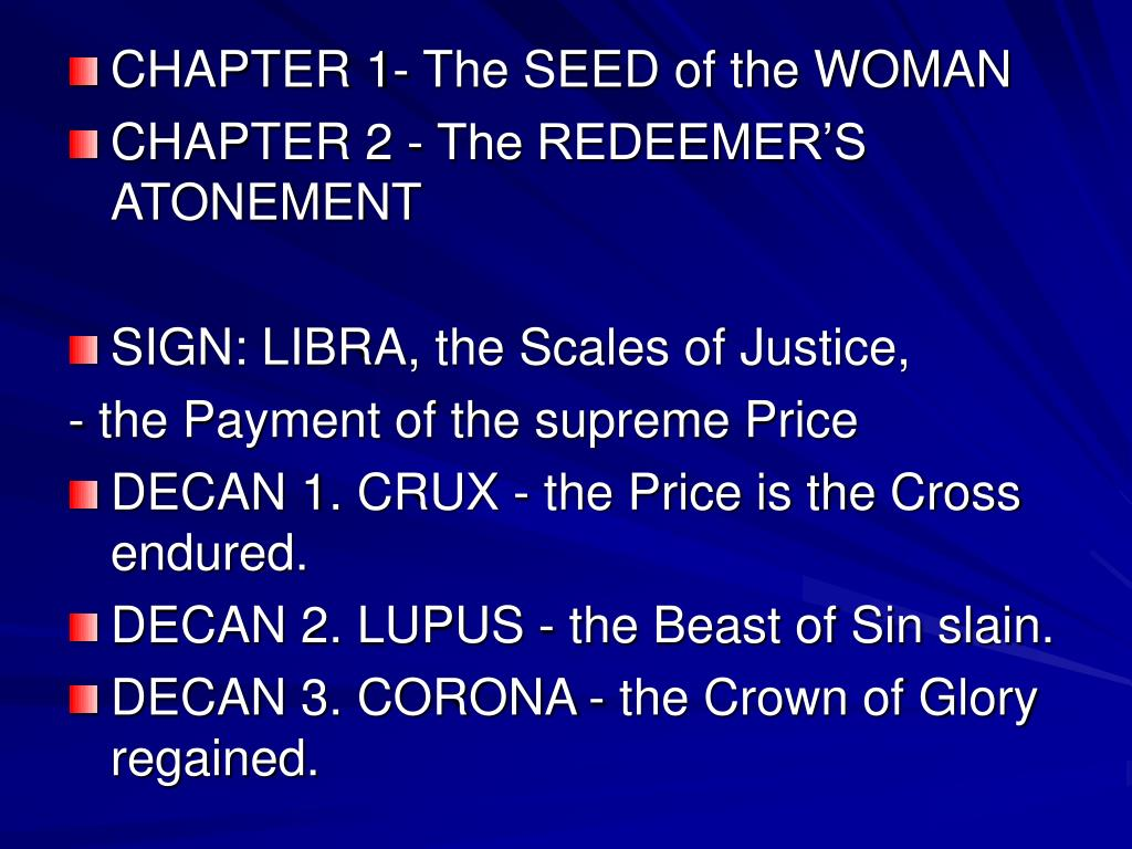 CHAPTER 1- The SEED of the WOMAN