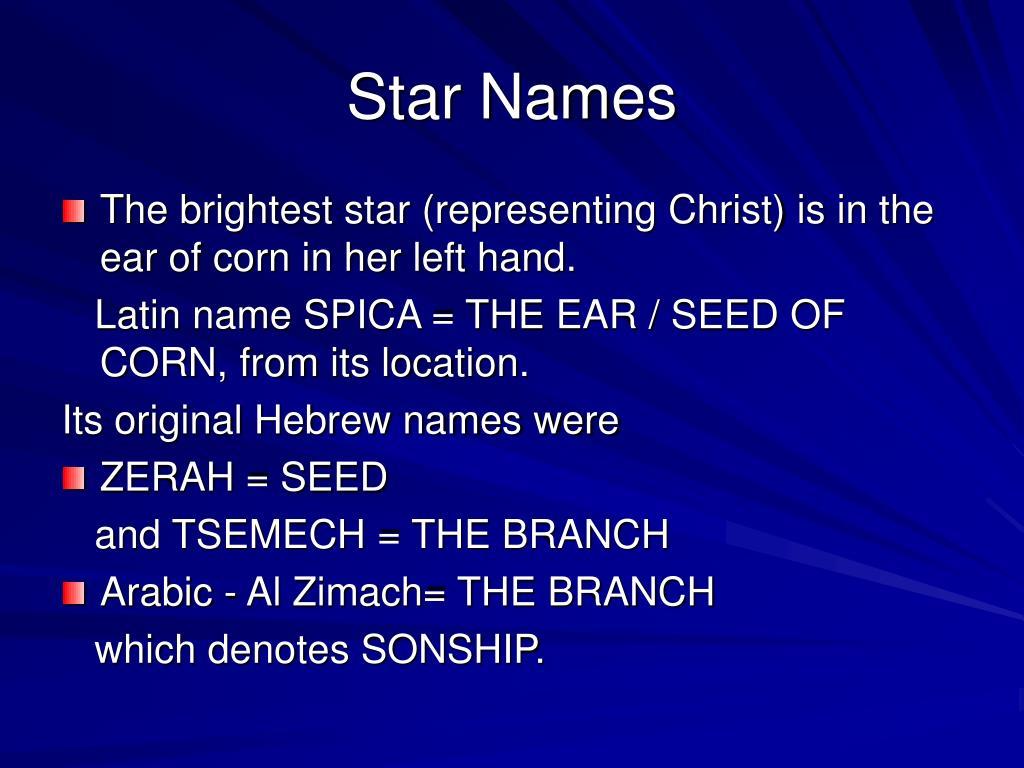 Star Names