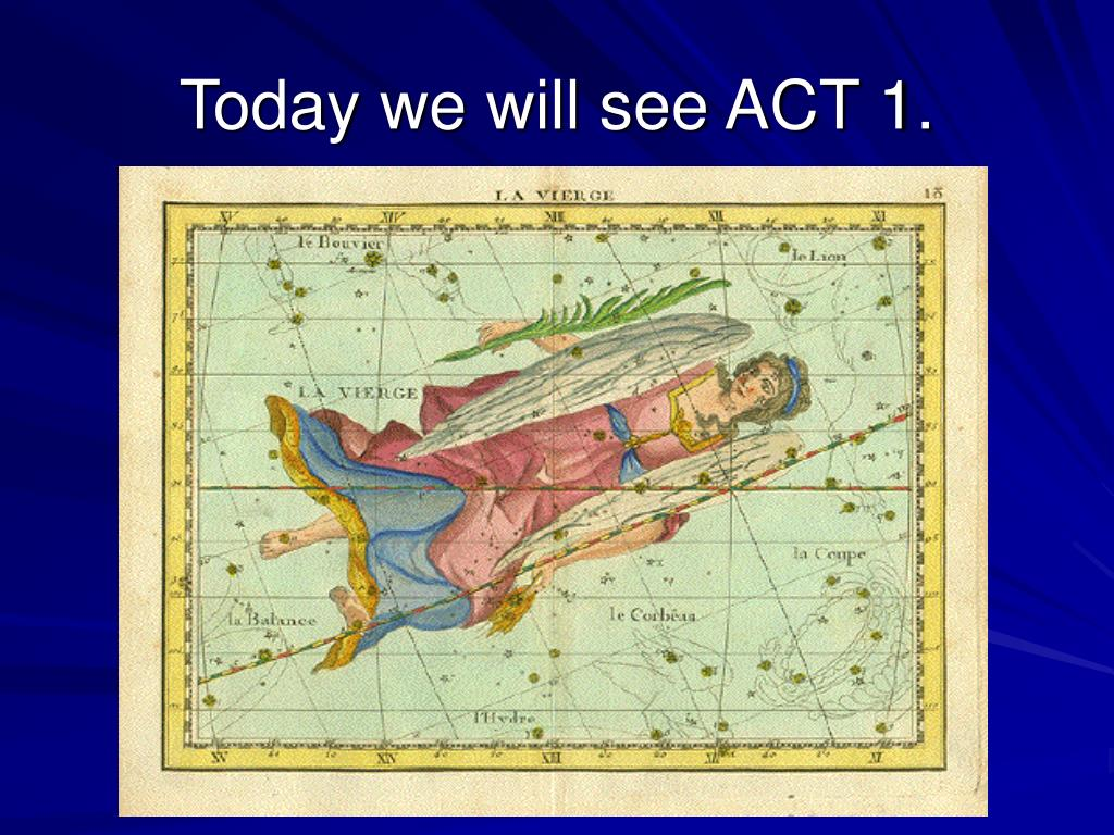 Today we will see ACT 1.