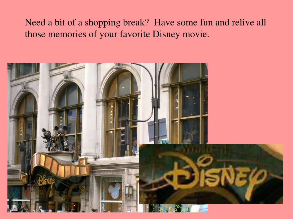 Need a bit of a shopping break?  Have some fun and relive all those memories of your favorite Disney movie.