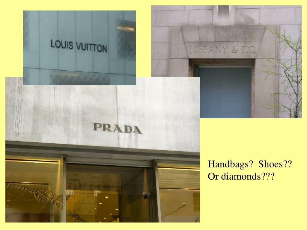 Handbags?  Shoes??  Or diamonds???
