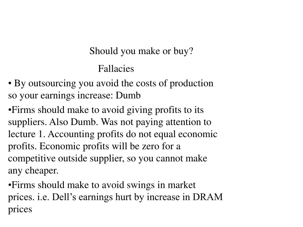 Should you make or buy?