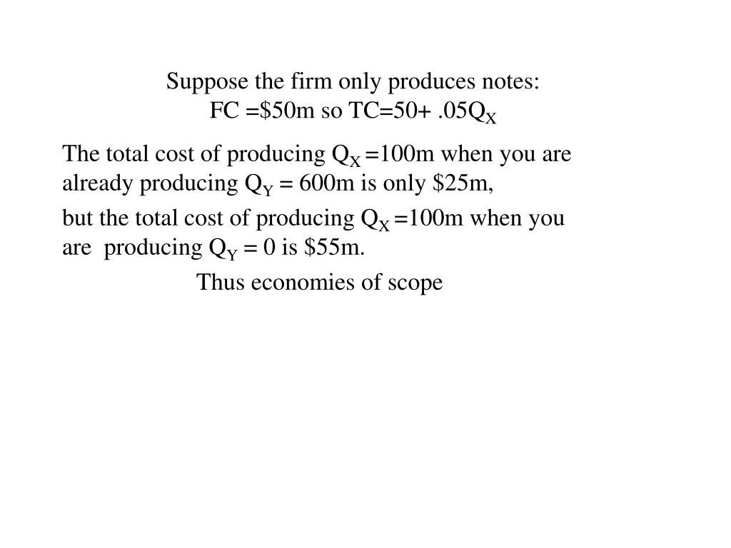 Suppose the firm only produces notes: