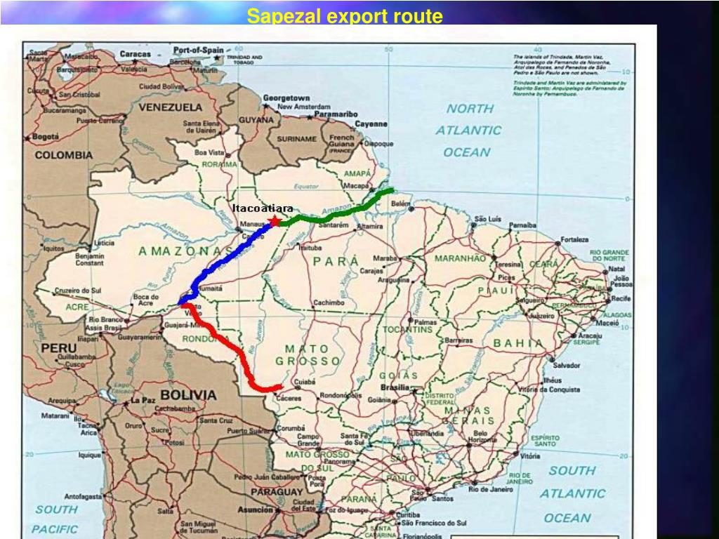 Sapezal export route