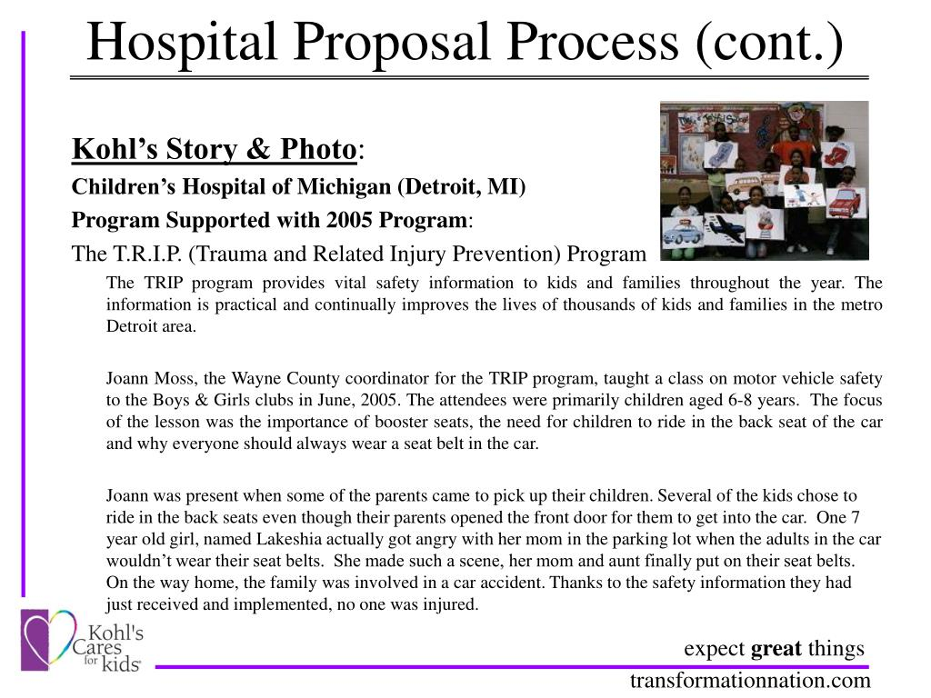 Hospital Proposal Process (cont.)