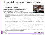 hospital proposal process cont