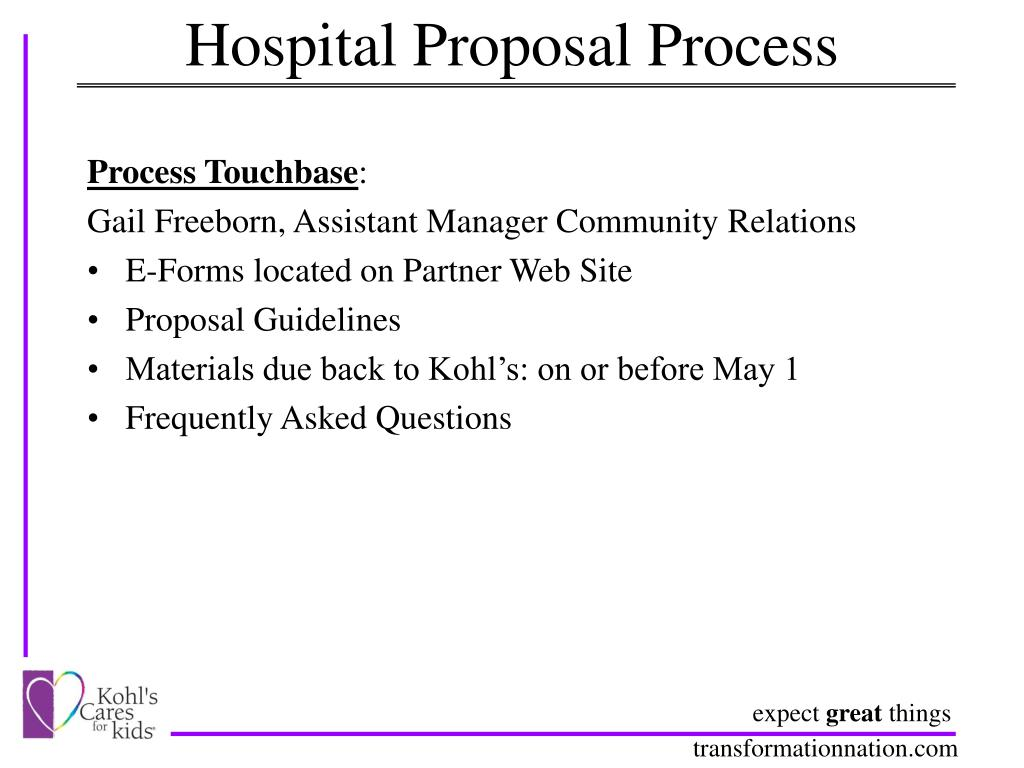Hospital Proposal Process
